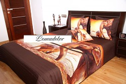 """""""3D"""" Přehoz na postel 41E -220x240cm-hnědý podklad"""