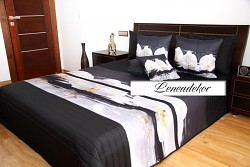 """""""3D"""" Přehoz na postel 41L -220x240cm-černý podklad"""