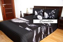 "Přehoz na postel 41P -""3D"" -220x240cm-černý podklad"