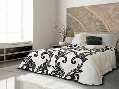Přehoz na postel oboustranný černý