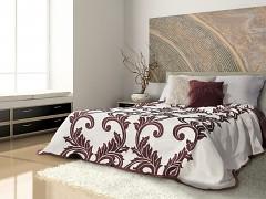 Přehoz na postel oboustranný vínový