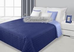 Přehoz na postel prošívaný NG8 170x210cm modrá světlá a tmavá