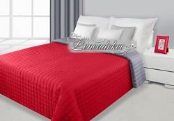 Přehoz na postel prošívaný NG11 170x210cm červená-ocelová