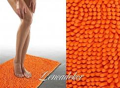 Koupelnová předložka oranžová Chenille - 50x70cm
