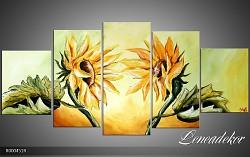 Obraz jako malovaný 5D slunečnice R000451R