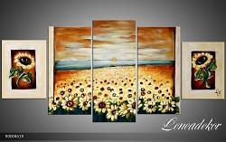 Obraz jako malovaný 5D slunečnice R000461R