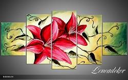 Obraz jako malovaný 5D lilie R000463R