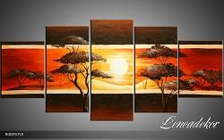 Obraz jako malovaný 5D západ slunce R000505R