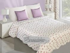 Přehoz na postel s květy NAR3