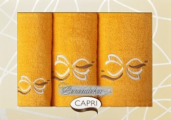 Dárková sada ručníků pomerančová  3RC3c Capri 3-dílný