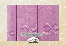 Dárková sada ručníků tmavě růžová 3RC4c Capri 3-dílný