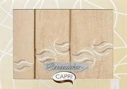 Dárková sada ručníků béžová 3RC24c Capri 3-dílný