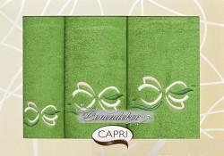 Dárková sada ručníků zelená 3RC46c Capri 3-dílný