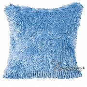 Dekorační polštář 40x40cm  SHAGGY světle modrý-povlak