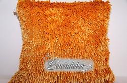 Dekorační polštář 40x40cm SHAGGY oranžový-povlak
