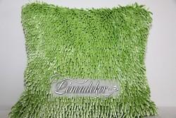 Dekorační polštář 40x40cm SHAGGY světle zelený-povlak
