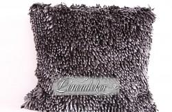 Dekorační polštář 40x40cm SHAGGY tmavě šedý-povlak