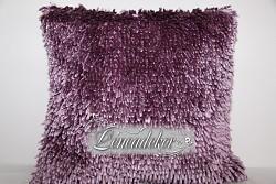 Dekorační polštář 40x40cm SHAGGY fialový-povlak