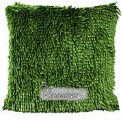 Dekorační polštář 40x40cm SHAGGY zelený olivový-povlak