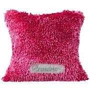 Dekorační polštář 40x40cm SHAGGY růžový tmavý-povlak