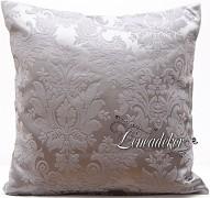 Dekorační polštář 40x40cm šedý s ornamentem