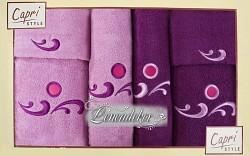 Sada ručníků 6RC22 lila a fialové 6-dílné