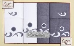 Sada ručníků 6RC32 bílé a šedé 6-dílné