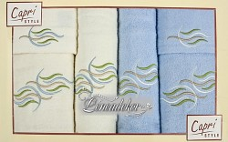 Sada ručníků 6RC36 krémové a světle modré 6-dílné