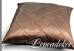 Dekorativní povlak na polštářek prošívaný-béžový tmavý