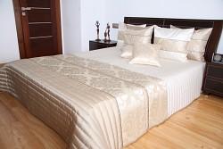 Přehoz na postel světle béžový 37B1 170x230cm