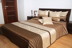 Přehoz na postel hnědo béžový
