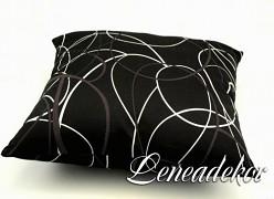 Dekorativní povlak na polštářek potisk-černý