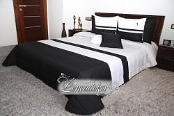 Přehoz na postel černo bílý
