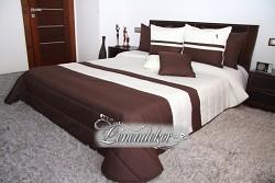 Přehoz na postel krémovo hnědý