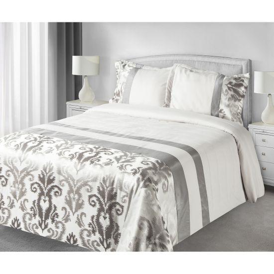 81a9170055cd Luxusní přehoz na postel BETTY šedý 170x210+50x70 -Leneadekor Váš e ...