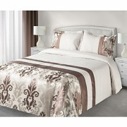 Luxusní přehoz na postel BETTY hnědý
