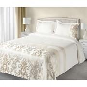 Luxusní přehoz na postel BETTY krémový