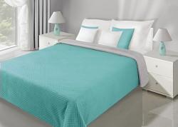 Přehoz na postel Filip tyrkysovo-šedý