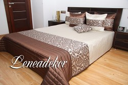 Přehoz na postel hnědý,béžový 34D-200x240cm