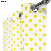 Závěs se žlutými puntíky