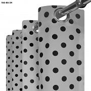 Závěs  šedý s černými puntíky