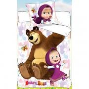 Dětské povlečení Máša a Medvěd s motýlkem