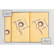 Sada ručníků žlutá 3-dílná G79