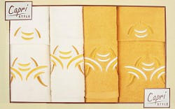 6-dílná sada ručníků a osušek 6RC10- krémové a oranžové