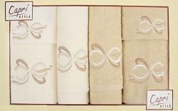 6-dílná sada ručníků a osušek 6RC11- krémové a béžové