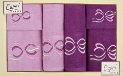 6-dílná sada ručníků a osušek 6RC18- lila a fialové