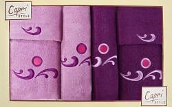 6-dílná sada ručníků a osušek 6RC22- lila a fialové