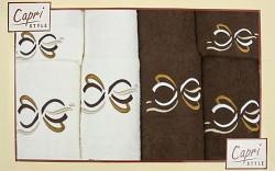 6-dílná sada ručníků a osušek 6RC27- krémové a hnědé
