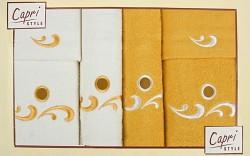 6-dílná sada ručníků a osušek 6RC30- krémové a oranžové