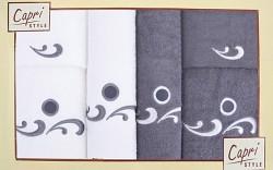 Sada 6 ručníků -bílé a grafitové/6RC32